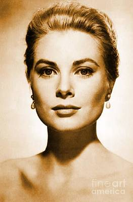Grace Kelly Digital Art - Grace Kelly by Opulent Creations