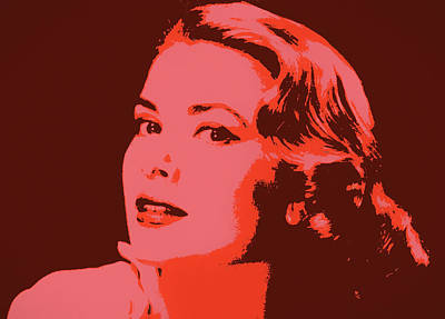 Classic Hollywood Mixed Media - Grace Kelly Pop Art by Dan Sproul