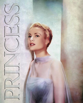 Grace Kelly Digital Art - Grace Kelly - Princess by Darlanne