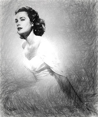 Grace Kelly Digital Art - Grace Kelly Sketch by Quim Abella