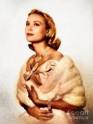 Grace Kelly Painting - Grace Kelly, Vintage Actress By John Springfield by John Springfield