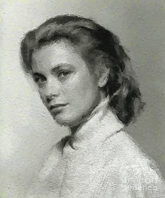 Actors Royalty-Free and Rights-Managed Images - Grace Kelly, Vintage Actress by Mary Bassett