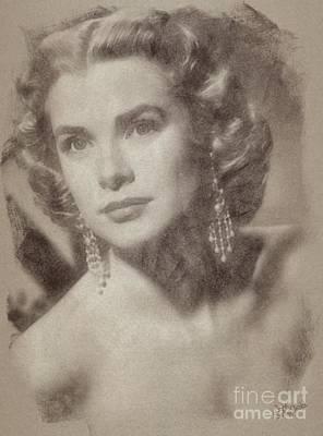 Grace Kelly, Vintage Hollywood Actress Art Print