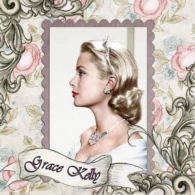 Grace Kelly Mixed Media - Grace Kelly Vintage Movie Star  by Shabby Chic and Vintage Art