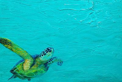 Sea Turtle Painting - Grace by Kristen Ashton