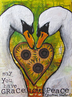 Mixed Media - Grace Love And Peace Wishes by Heather Shalhoub