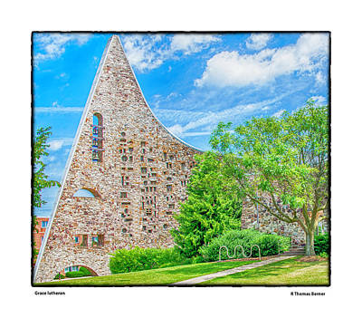 Photograph - Grace Lutheran by R Thomas Berner
