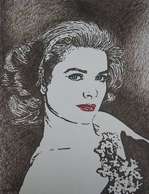 Grace Kelly Drawing - Grace by Lynet McDonald