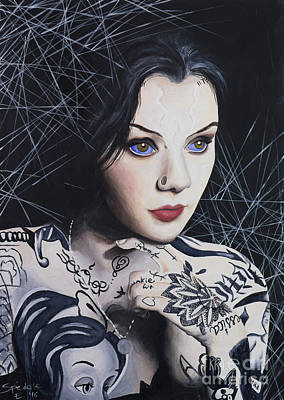 Woman Painting - Grace Neutral by Elena Spedale