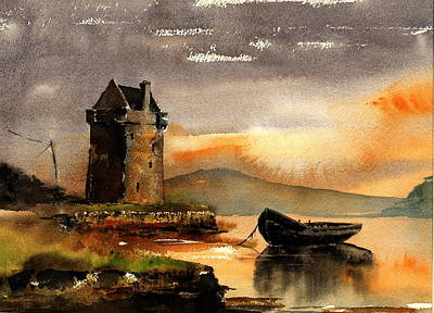 Painting - 0756 Grace O' Malleys Castle, Rockfleet, Mayo by Val Byrne