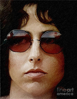 Grace Slick Drawing - Grace Slick by Donna  Schellack