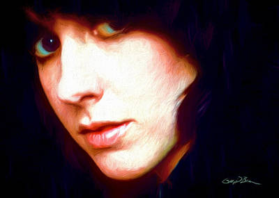 Grace Slick Painting - Grace Slick by Gary D Baker