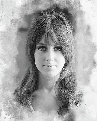 Grace Slick Digital Art - Grace Slick by Karl Knox
