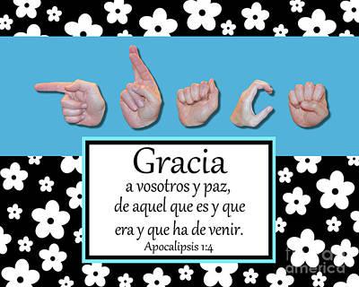 Grace Spanish - Bw Graphic Art Print