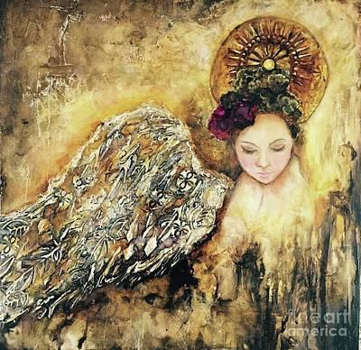 Angel Art Mixed Media - Grace Transcendent by Donna Martin