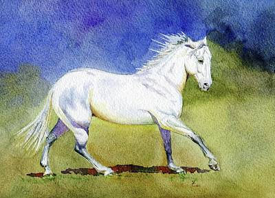 Loping Painting - Grace by Valerie Coe