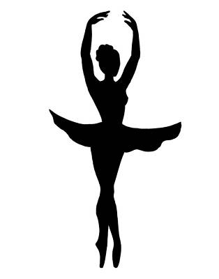 Painting - Graceful Ballerina Silhouette by Irina Sztukowski