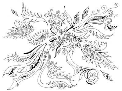 Photograph - Graceful Doodles I by Irina Sztukowski