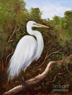 Graceful Egret Art Print