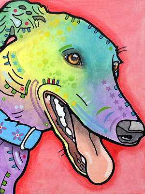 Art Print featuring the painting Graceful Greyhound by Dean Russo