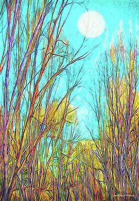 Digital Art - Graceful Moonlit Trees by Joel Bruce Wallach