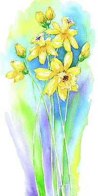 Wall Art - Painting - Graceful Narcissus  by Svetlana Titarenko