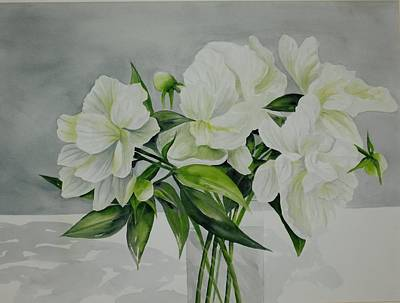 Painting - Graceful Peonies by Becky Taylor