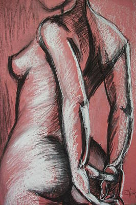 Graceful Pink - Nudes Gallery Art Print by Carmen Tyrrell