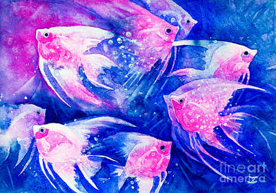 Painting - Graceful Pink by Zaira Dzhaubaeva