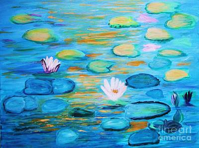 Painting - Graceful Pond From The Water Series by Donna Dixon