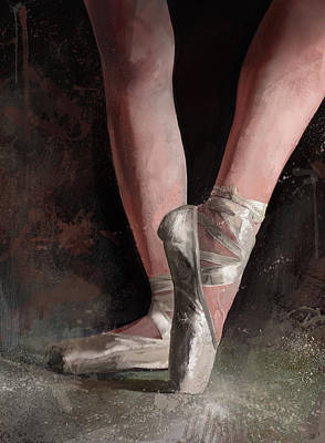 Digital Art - Graceful Slippers by Steve Goad
