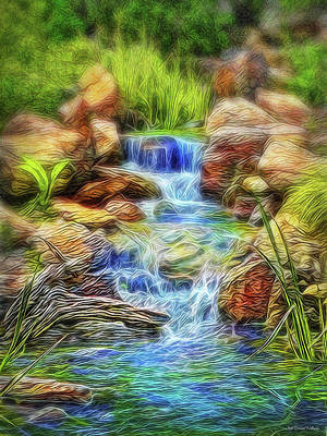Digital Art - Graceful Waters by Joel Bruce Wallach