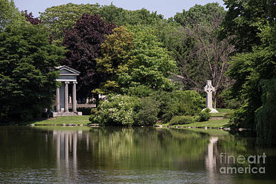 Photograph - Graceland Cemetery - Lake Willowmere by David Bearden