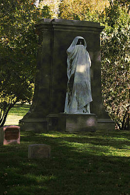 Headstones Photograph - Graceland Chicago - The Place Where The Spirits Roam by Christine Till