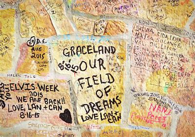 Digital Art - Graceland Grafitti by Dennis Cox