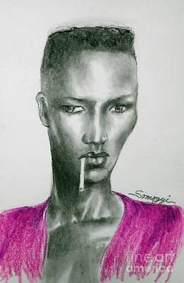 Drawing - Grace's Crewcut by Jayne Somogy