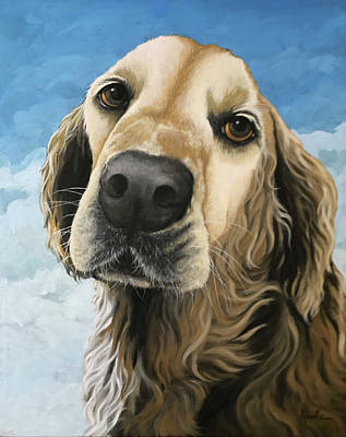Painting - Gracie - Golden Retriever Dog Portrait by Linda Apple