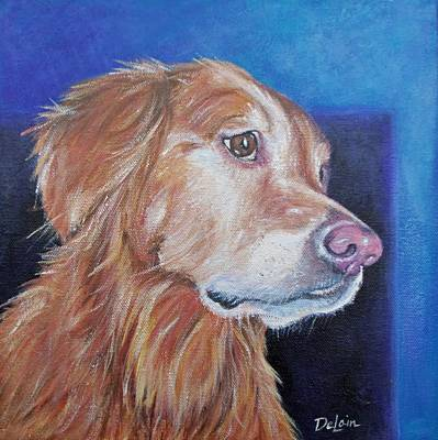 Painting - Gracie by Susan DeLain