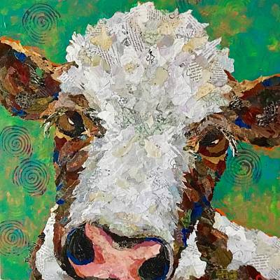 Painting - Gracies Cow by Phiddy Webb