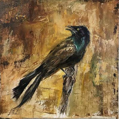 Painting - Grackle by Lindsay Frost