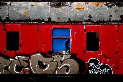 Graff Train Art Print