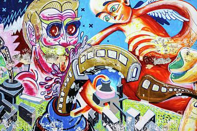 Vesna Antic Abstract Paintings Royalty Free Images - Graffiti 1 Royalty-Free Image by Daliana Pacuraru