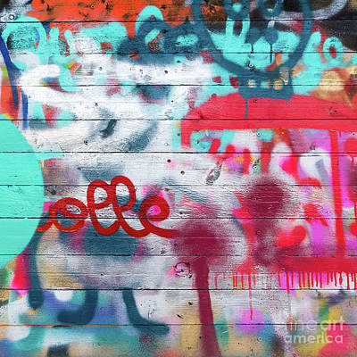 Mural Photograph - Graffiti 1 by Delphimages Photo Creations