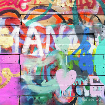 Mural Photograph - Graffiti 4 by Delphimages Photo Creations