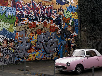 Spray Can Painting - Graffiti And The Pink Car. by Mike Lester