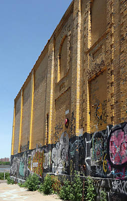 Photograph - Graffiti And Yellow Wall by Cate Franklyn
