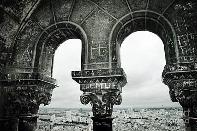 Sacre Coeur Photograph - Graffiti Arches Of La Sacre Coeur  - No 1 - Paris  by Turtle Shoaf