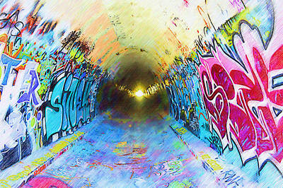 Splashy Photograph - Graffiti Art 25 by Cindy Nunn