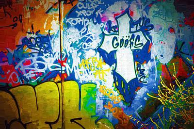 Splashy Photograph - Graffiti Art 49 by Cindy Nunn