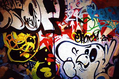 Splashy Photograph - Graffiti Art 50 by Cindy Nunn